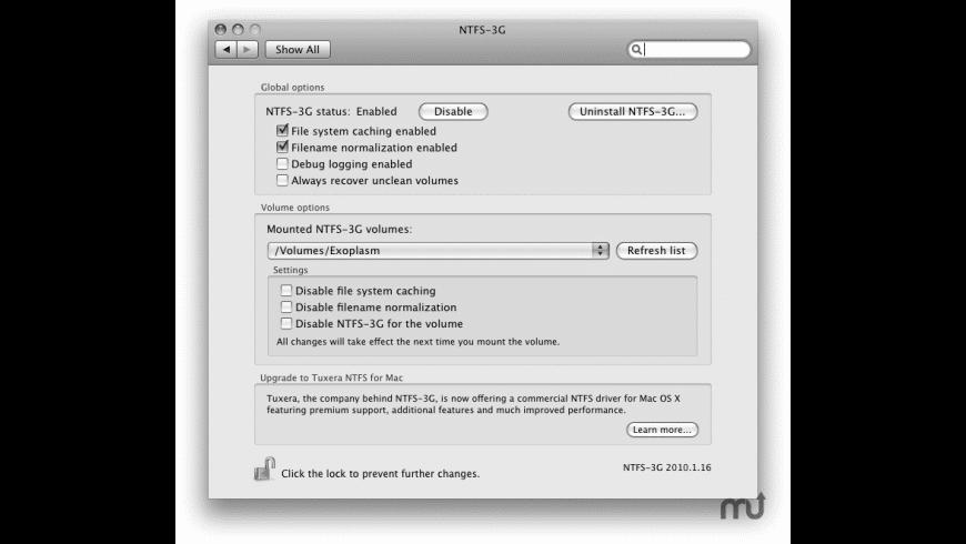 NTFS-3G for Mac - review, screenshots