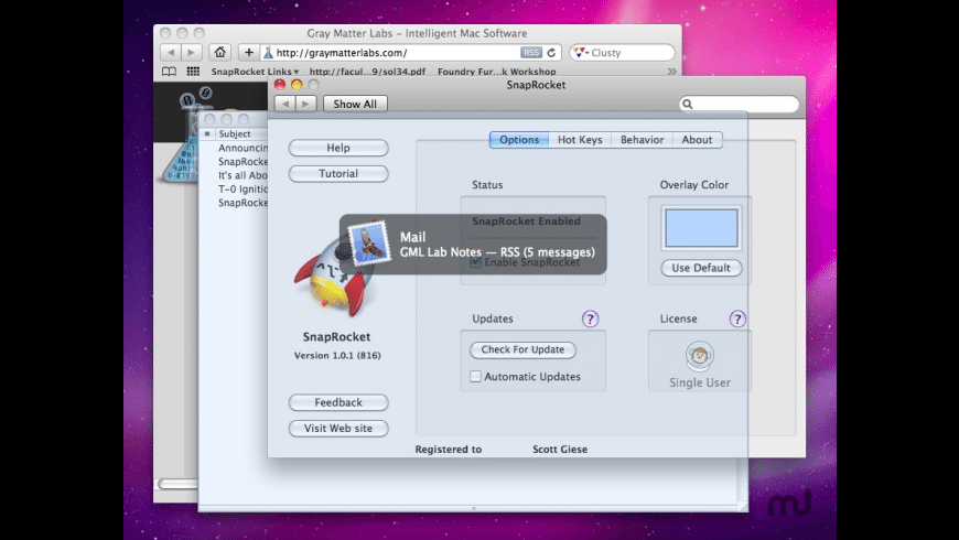 SnapRocket for Mac - review, screenshots