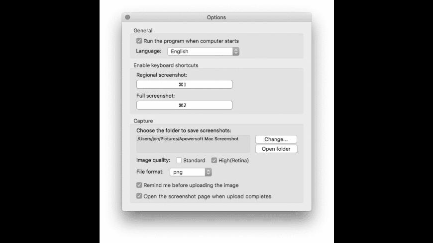 Apowersoft Mac Screenshot for Mac - review, screenshots