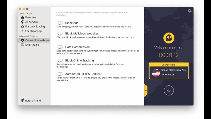 CyberGhost for Mac - review, screenshots