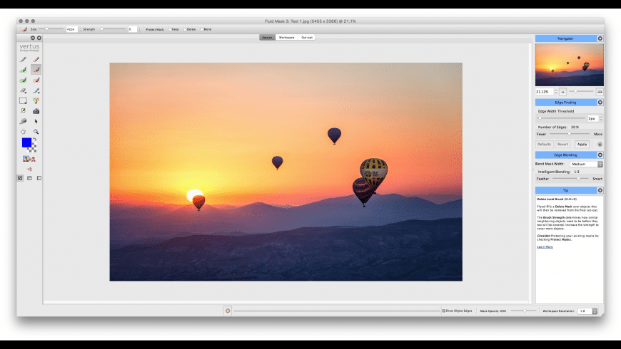 Fluid Mask for Mac - review, screenshots