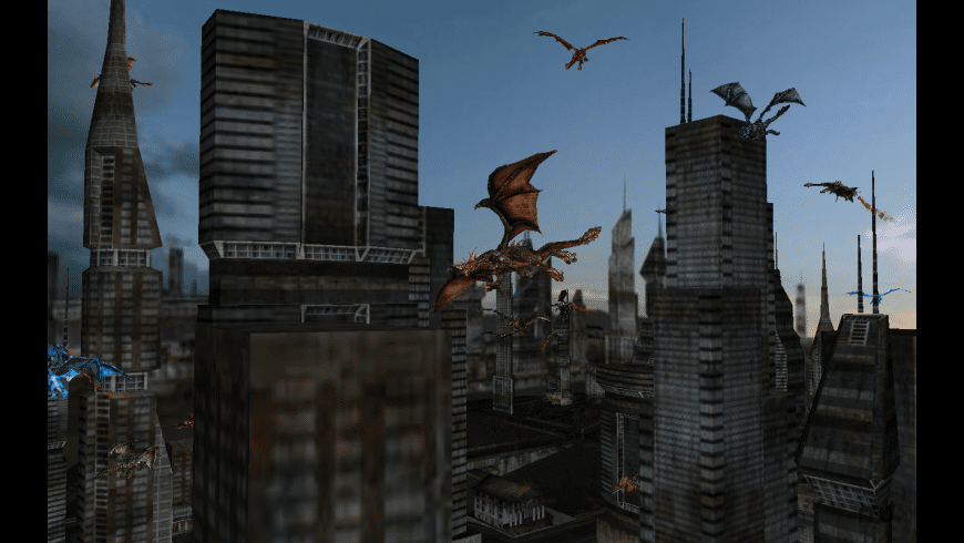 Dragon City 3D Screen Saver for Mac - review, screenshots