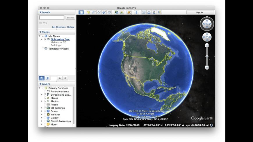 Google Earth for Mac - review, screenshots