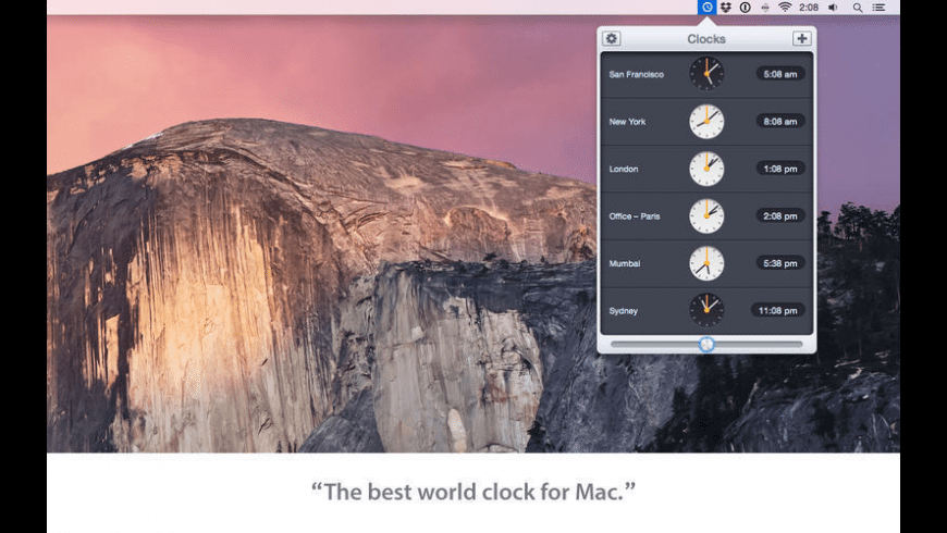 Clocks for Mac - review, screenshots
