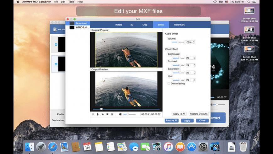 AnyMP4 MXF Converter for Mac - review, screenshots