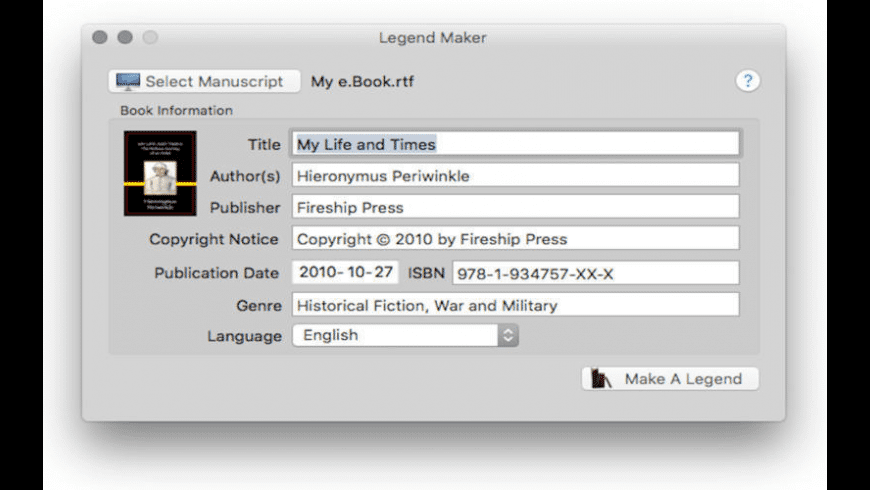 Legend Maker for Mac - review, screenshots