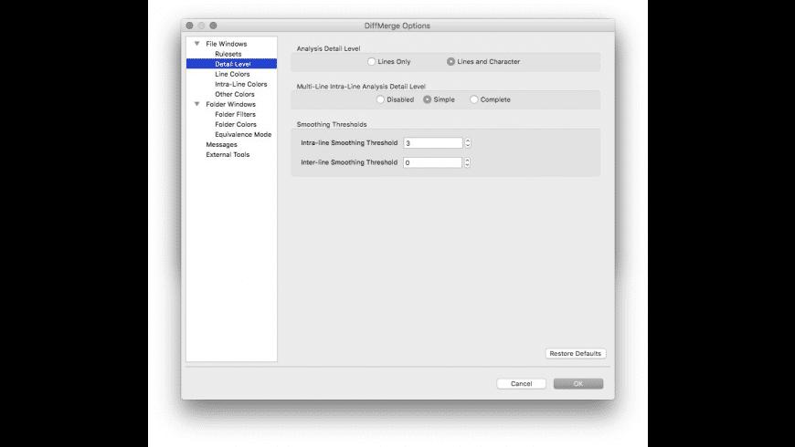 DiffMerge for Mac - review, screenshots