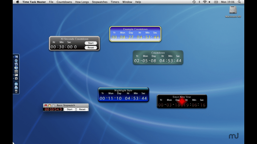 Time Task Master for Mac - review, screenshots