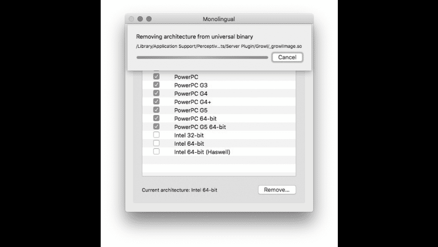 Monolingual for Mac - review, screenshots