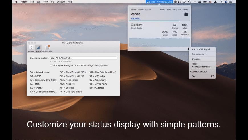 WiFi Signal for Mac - review, screenshots