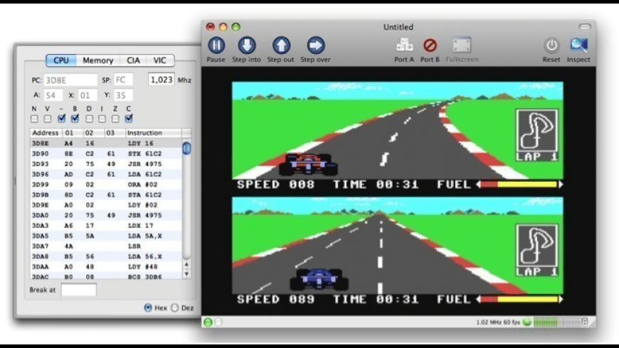 VirtualC64 for Mac - review, screenshots