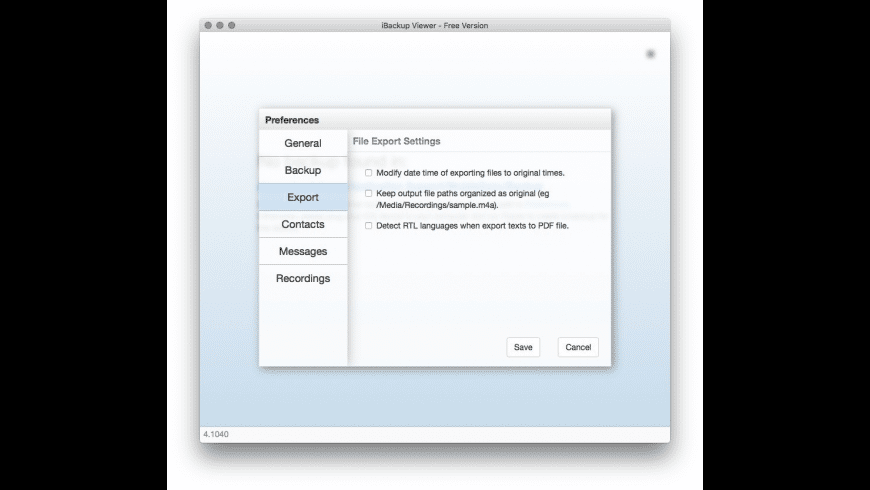 iBackup Viewer for Mac - review, screenshots