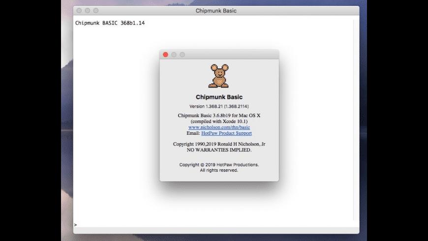 Chipmunk BASIC for Mac - review, screenshots