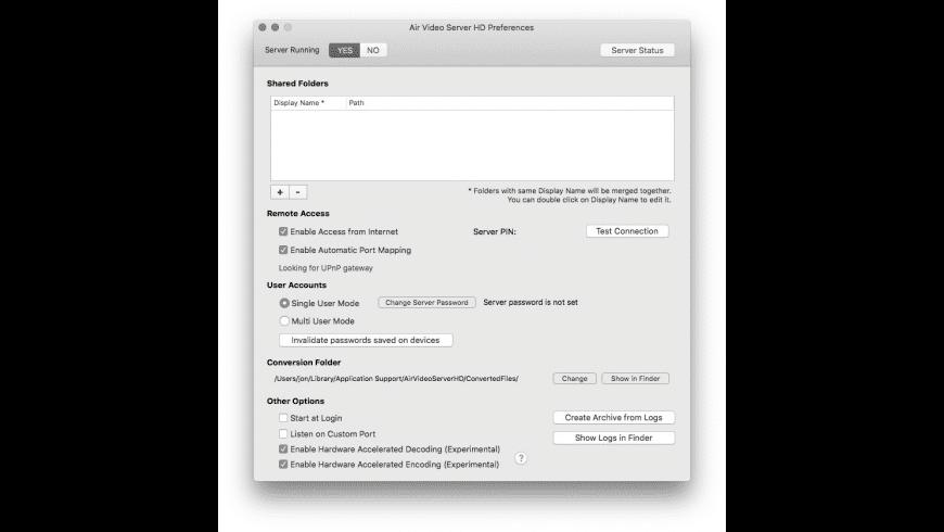 Air Video Server HD for Mac - review, screenshots