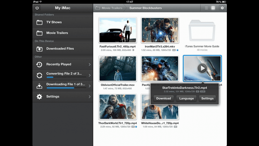Air Video Server HD for Mac - review, screenshots