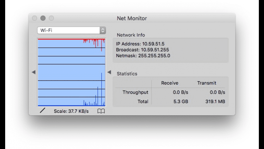 Net Monitor for Mac - review, screenshots