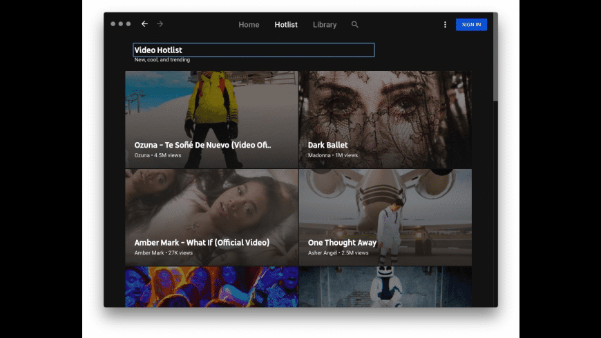 YT Music for Mac - review, screenshots