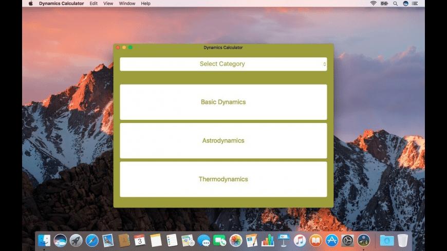Dynamics Calculator for Mac - review, screenshots