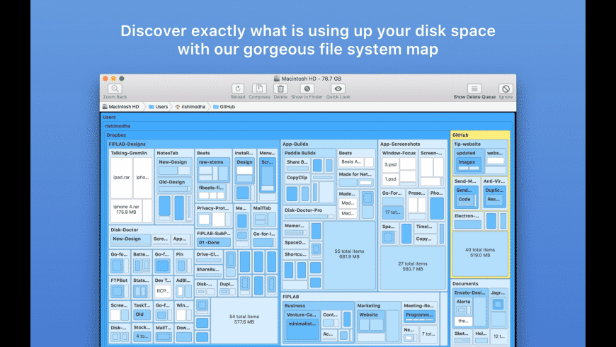 Disk Map for Mac - review, screenshots