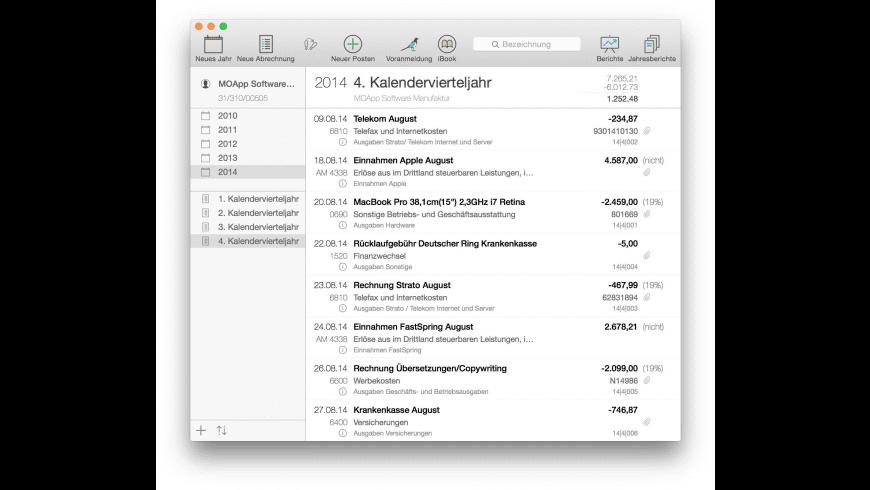 Umsatz Pro for Mac - review, screenshots