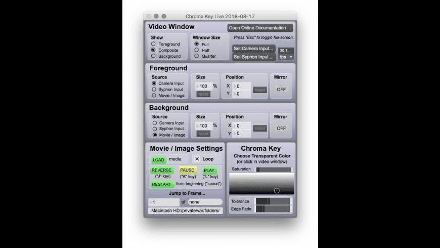 Chroma Key Live for Mac - review, screenshots