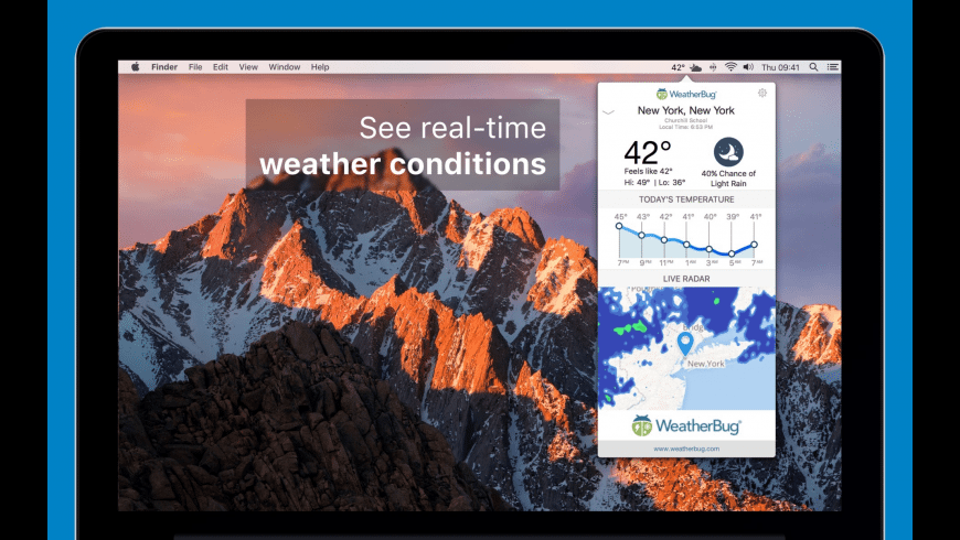 WeatherBug for Mac - review, screenshots
