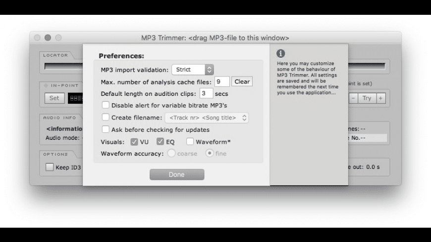 MP3 Trimmer for Mac - review, screenshots