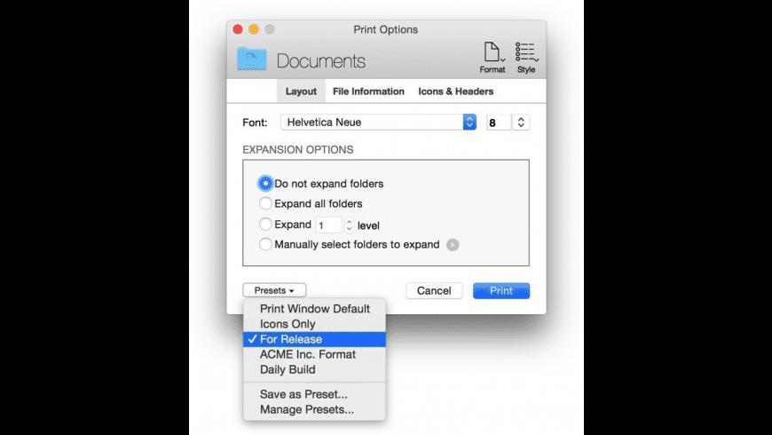 Print Window for Mac - review, screenshots