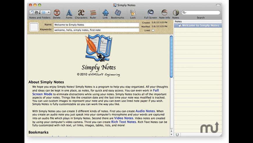 Simply Notes for Mac - review, screenshots