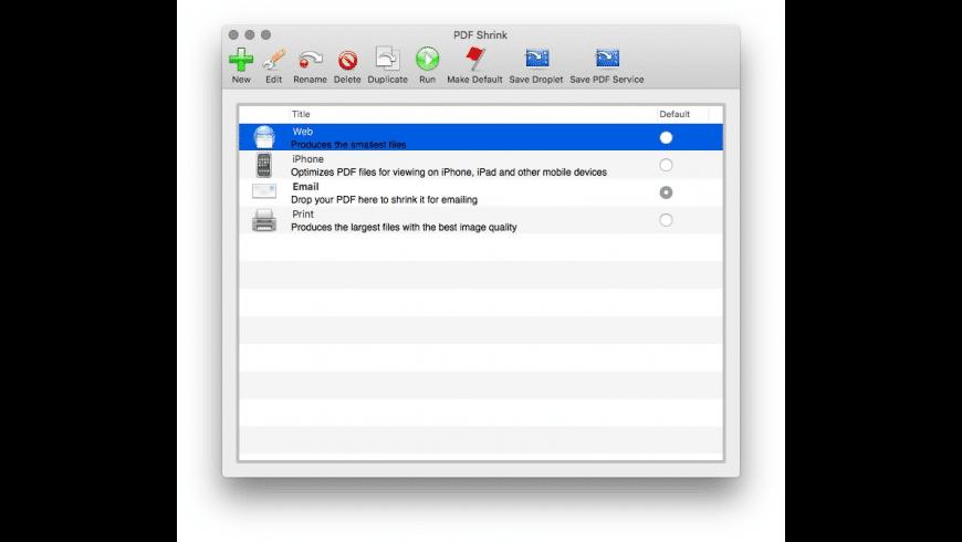 PDF Shrink for Mac - review, screenshots