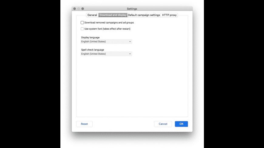 AdWords Editor for Mac - review, screenshots
