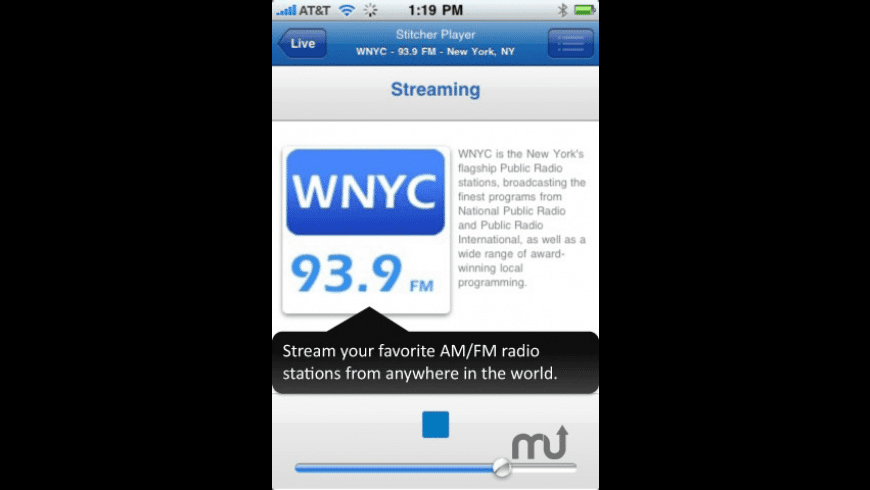 Stitcher Radio for Mac - review, screenshots