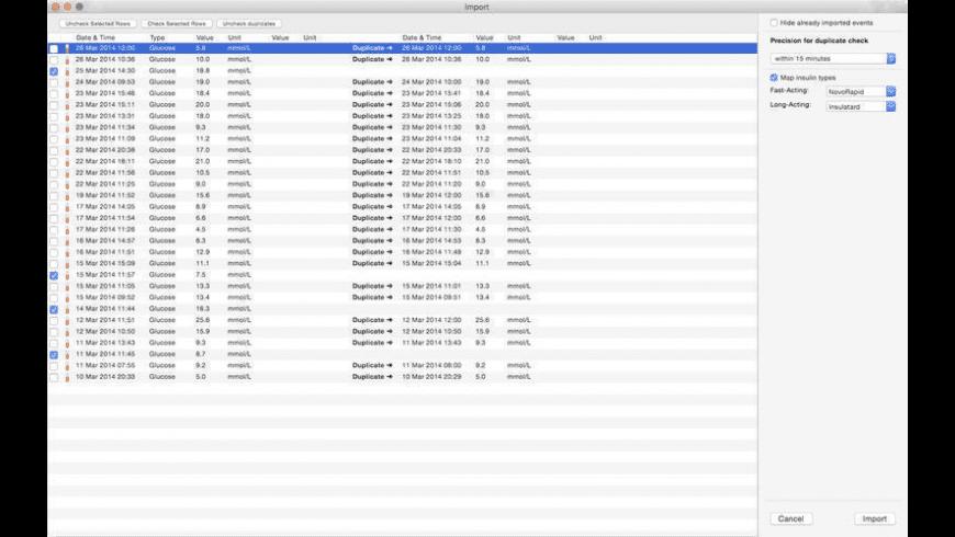 DiabetesPal for Mac - review, screenshots