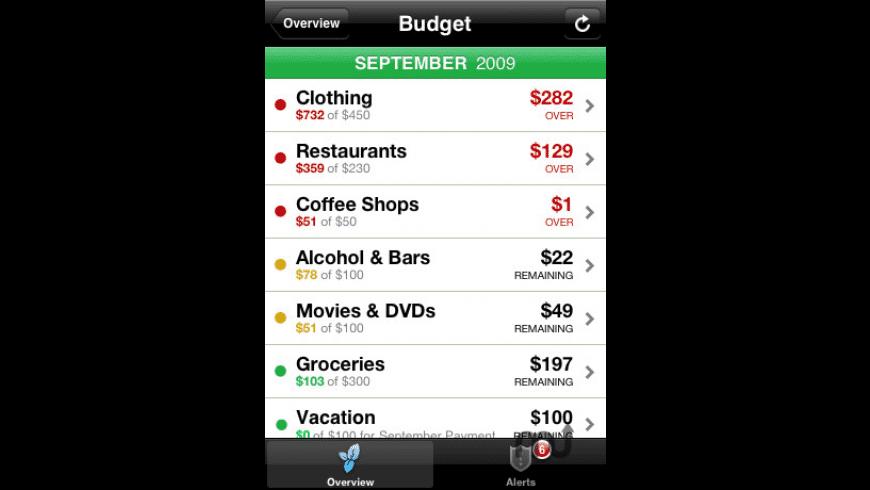 Mint.com Personal Finance for Mac - review, screenshots