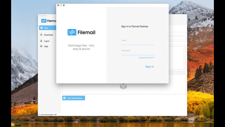 Filemail for Mac - review, screenshots