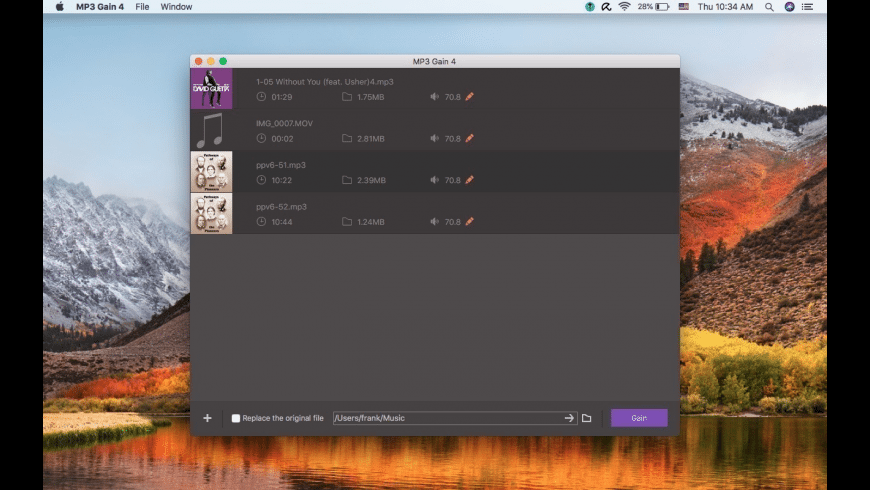 MP3 Gain for Mac - review, screenshots