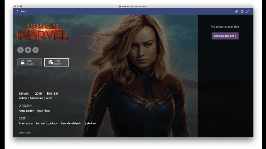 Stremio for Mac - review, screenshots