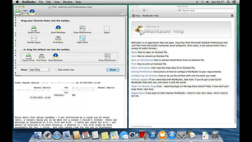 MailRaider for Mac - review, screenshots