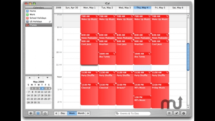 iCal Calling iTunes! for Mac - review, screenshots