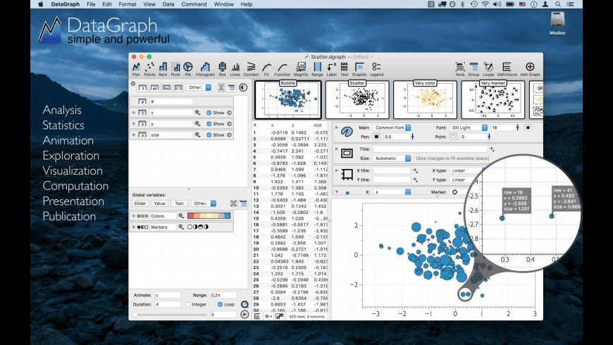 DataGraph for Mac - review, screenshots