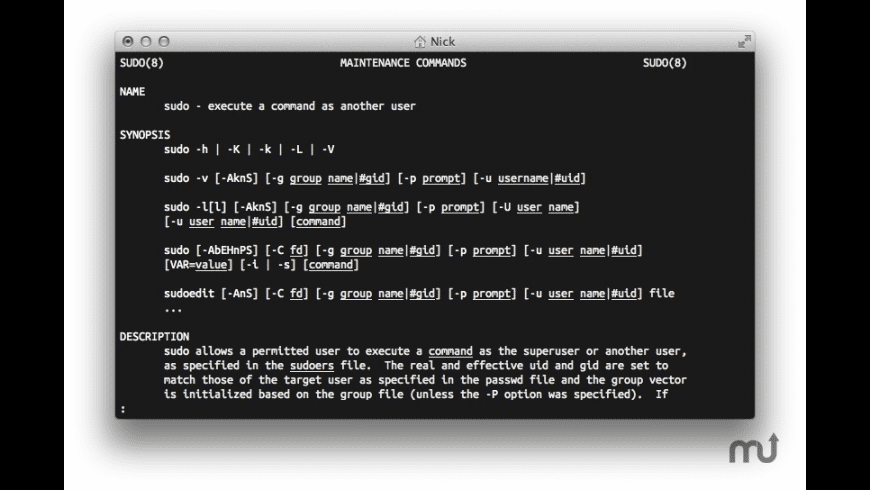 Sudo for Mac - review, screenshots