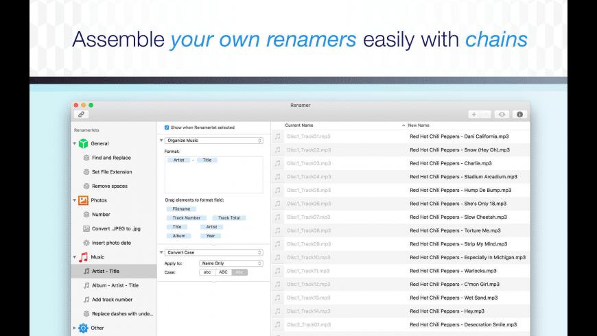 Renamer for Mac - review, screenshots
