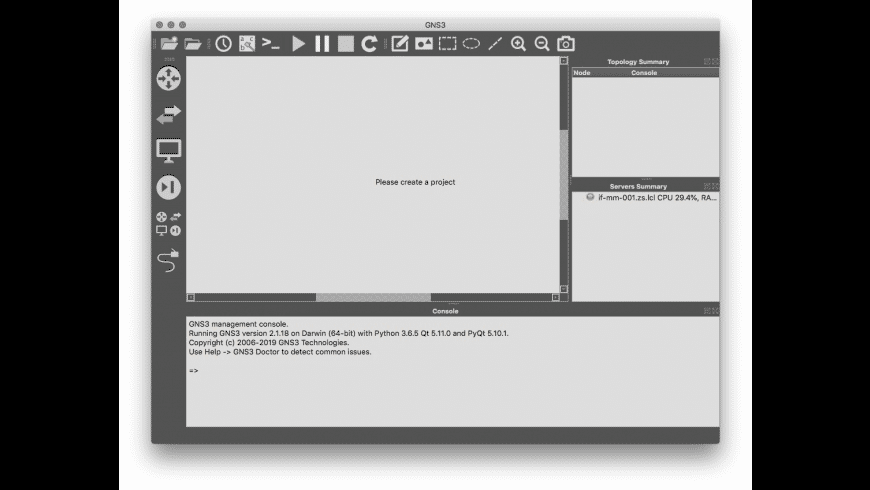 GNS3 for Mac - review, screenshots