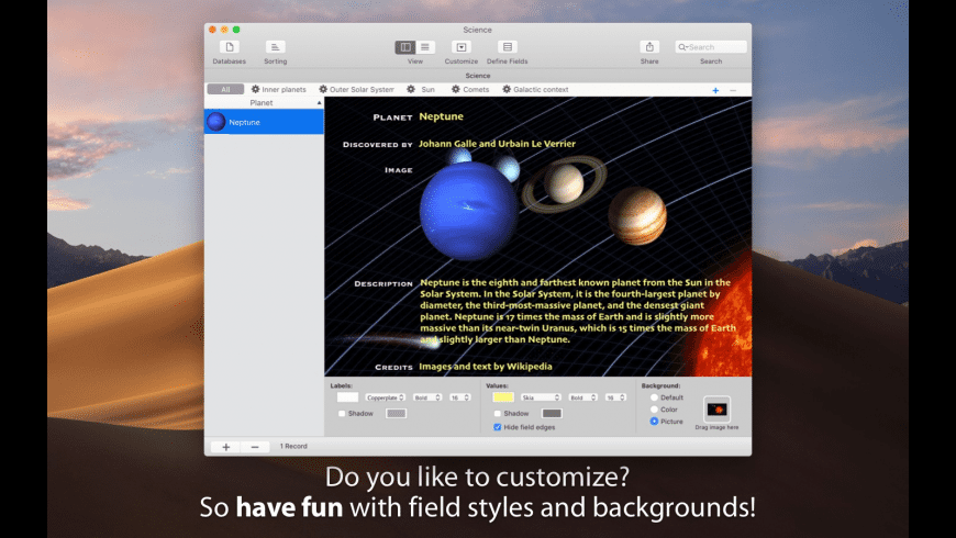 iDatabase for Mac - review, screenshots