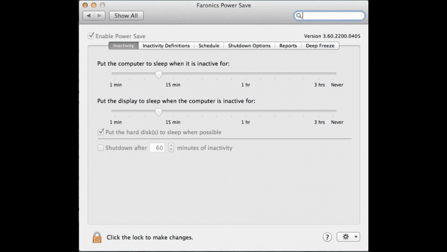 Power Save Mac for Mac - review, screenshots