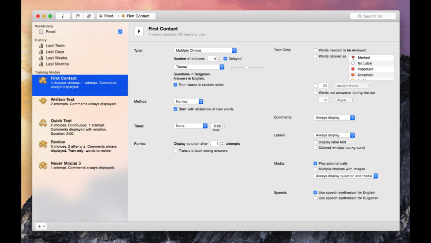 iVocabulary for Mac - review, screenshots