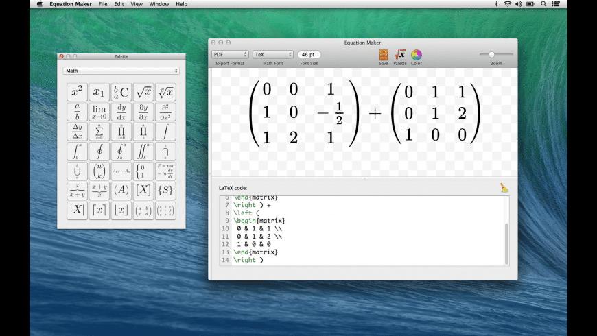 Equation Maker for Mac - review, screenshots