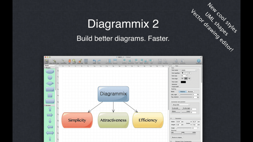 Diagrammix for Mac - review, screenshots