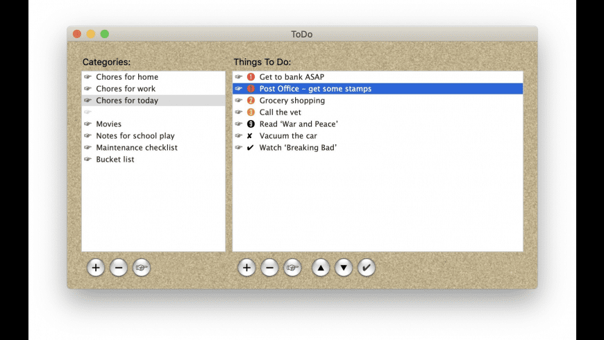 ToDo X for Mac - review, screenshots