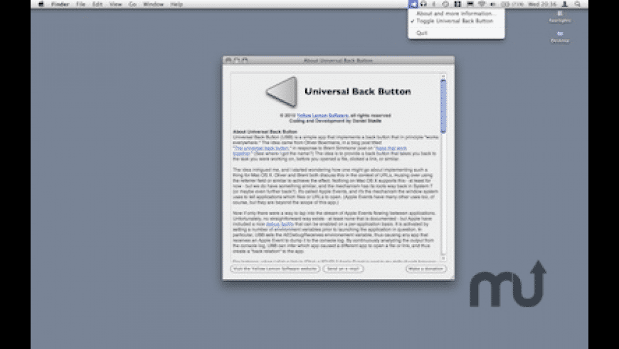 Universal Back Button for Mac - review, screenshots